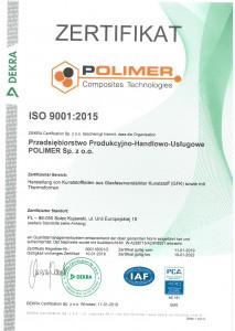 Certyfikat ISO 9001 de